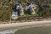 Aerial view of the Sanctuary Hotel and Resort on Kiawah Island, South Carolina.