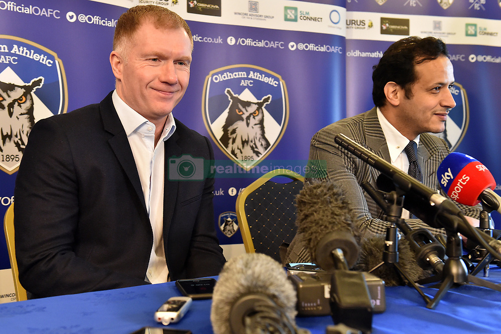 February 11, 2019 - Oldham, England, United Kingdom - Paul Scholes gives his first press conference after taking over as Oldham Athletic manager at Boundary Park, Oldham on Monday 11th February 2019. (Credit Image: © Mi News/NurPhoto via ZUMA Press)