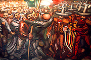 MEXICO, MEXICO CITY, MURALS Chapultepec Palace and Museum; Siqueiros' 'The Mexican Revolution' (1965) shows the rising up of the people