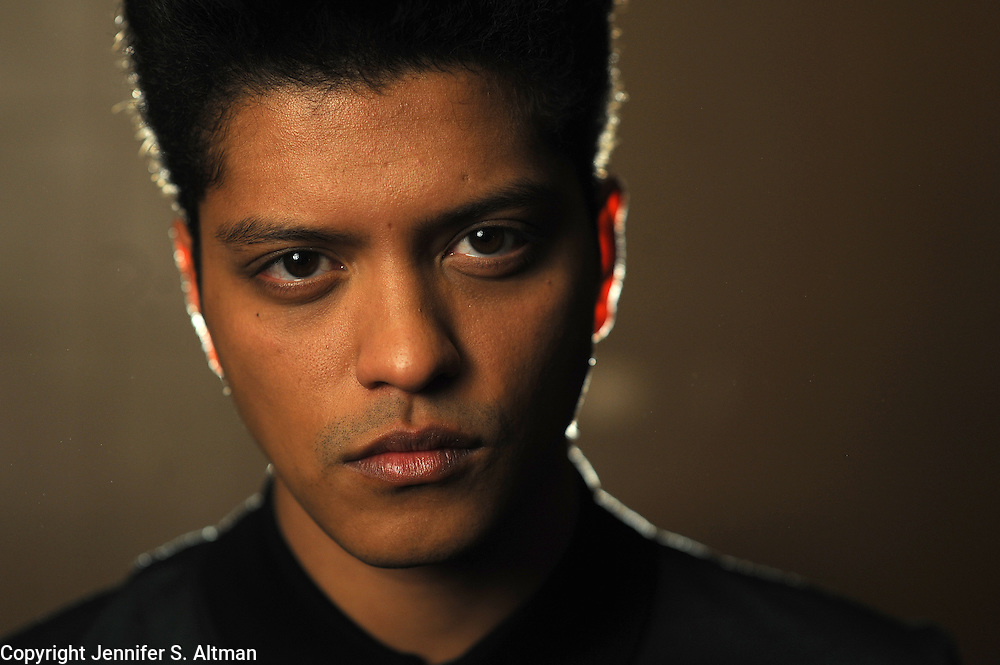 MANHATTAN, NEW YORK, JANUARY 31, 2011 Singer, song writer, and musician Bruno Mars is seen at The Empire Hotel in Manhattan, NY. Mars is nominated for many Grammy awards this year.  01/31/2011 Photo by Jennifer S. Altman/For The Times
