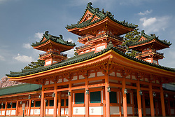 Asia, Japan, Honshu island, Kyoto, Heian Jingu Shrine, imperial Shinto shrine built in 1895