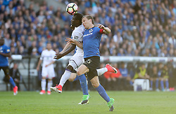 May 14, 2017 - Brugge, BELGIUM - Anderlecht's Frank Acheampong and Club's Rudy Ruud Vormer fight for the ball during the Jupiler Pro League match between Club Brugge and RSC Anderlecht, in Brugge, Sunday 14 May 2017, on day 8 (out of 10) of the Play-off 1 of the Belgian soccer championship. BELGA PHOTO VIRGINIE LEFOUR (Credit Image: © Virginie Lefour/Belga via ZUMA Press)