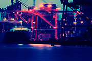 Image detail of container ships at the Port of Seattle, Washington state, Pacific Northwest by Randy Wells