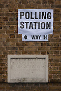 On polling day of the UK's EU (European Union) Referendum Day, we see the Polling Station sign outside St. Saviour's church in Herne Hill, Se24, on 23rd June 2016, in south London, United Kingdom. (Photo by Richard Baker / In Pictures via Getty Images)