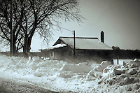 A lone house in Rural Salem County (NJ) endures a major winter storm.