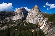 Nevada Fall, Half Dome and Liberty Cap, Yosemite National Park, California USA
