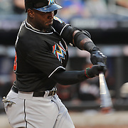 Marcell Ozuna, Miami Marlins, in action during the New York Mets V Miami Marlins, Major League Baseball game which went for 20 innings and lasted 6 hours and 25 minutes. The Marlins won the match 2-1. Citi Field, Queens, New York. 8th June 2013. Photo Tim Clayton