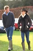 Kate and Harry, getting on wellie: Prince and Duchess choose matching footwear to watch William play football<br /> <br /> The Duchess of Cambridge and Prince Harry are not exactly known for sharing sartorial tastes.<br /> But it seems they do both have a penchant for £300 leather-lined wellington boots.<br /> While watching her husband Prince William from the sidelines of a football match, Kate committed a rare fashion faux pas when she turned up in the same green wellies as her brother-in-law.<br /> <br /> <br /> The luxury boots were made by 80-year-old French bootmaker Le Chameau, which specialises in upmarket country attire. <br /> On its website, it boasts that the footwear has 'full-grain leather' lining for 'warmth and comfort' and is made using the 'finest craftmanship'.<br /> Prince Harry seemed unconcerned by their matching footwear, however, and was seen laughing with the Duchess as they stood on the edge of the pitch on an estate near Sandringham. <br /> They watched William win the 11-a-side football match alongside villagers and estate workers at Castle Rising, owned by Tory peer Lord Greville Howard.<br /> Kate managed to look stylish from the sidelines in a £1,500 outfit. She wore a £695 toscana sheepskin jacket from one of her favourite retailers, L.K. Bennett.<br /> <br /> She also kept warm in a £355 almond-coloured wool jumper from Alice Temperley's Notting Hill label, Temperley, London. Miss Temperley is a popular designer with the Middletons and created the emerald dress which Pippa Middleton wore to her sister's wedding reception in April.<br /> To complete this look, Kate hid her long, wavy hair beneath a cowboy-style hat and showed off her figure in a pair of skinny jeans.<br /> Her casual clothing was a long way from her Christmas Day attire the following day when she wore a long, plum-coloured coat, matching hat and £1,900 earrings for a church service in Sandringham.<br /> ©Exclusivepix