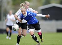 Fotball<br /> Norge<br /> 04.05.2011<br /> Foto: Morten Olsen, Digitalsport<br /> <br /> Trening Norge A kvinner<br /> Nadderud Stadion<br /> Internkamp - Norge Blå mot Norge Hvit<br /> <br /> Leni Larsen Kaurin (B)<br /> Marita Skammelsrud Lund (W)