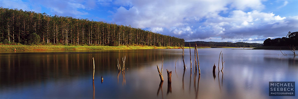 Late afternoon on the shores of Lake Tinaroo.<br /> <br /> Code: HAQT0006<br /> <br /> Open Edition and available as a Stock Image