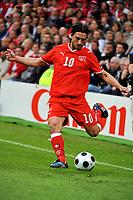 GEPA-0706085642 - BASEL,SCHWEIZ,07.JUN.08 - FUSSBALL - UEFA Europameisterschaft, EURO 2008, Schweiz vs Tschechien, SUI vs CZE. Bild zeigt Hakan Yakin (SUI).<br />Foto: GEPA pictures/ Oliver Lerch
