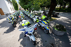 Police motorbikes during the 4th Stage of 27th Tour of Slovenia 2021 cycling race between Ajdovscina and Nova Gorica (164,1 km), on June 12, 2021 in Ajdovscina - Nova Gorica, Ajdovscina - Nova Gorica, Slovenia. Photo by Vid Ponikvar / Sportida