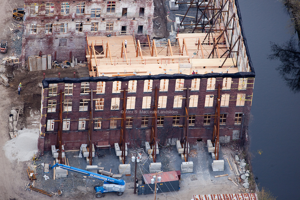 Re-construction at Lowell National Historical Park.