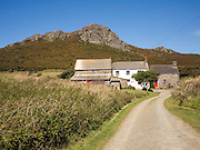 Carn Llidi tor, St David's Head youth hostel, Pembrokeshire, Wales