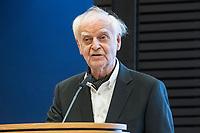 """21 NOV 2018, BERLIN/GERMANY:<br /> Prof. Dr. Adolf Muschg, Schriftsteller, haelt eine REde, """"Parlamentarismus im Spannungsverhaeltnis von Globalisierung und Nationaler Souveraenitaet"""", Veranstaltung der Konrad-Adenauer-Stiftung anl. des 70. Geburtstages von Norbert Lammert, Akademie der KAS<br /> IMAGE: 20181121-02-124"""