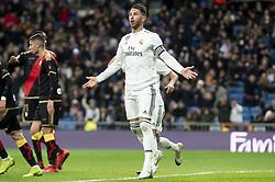 December 15, 2018 - Madrid, Spain - Sergio Ramos of Real Madrid during La Liga match between Real Madrid and Rayo Vallecano at Santiago Bernabeu Stadium in Madrid, Spain. December 15, 2018. (Credit Image: © Coolmedia/NurPhoto via ZUMA Press)