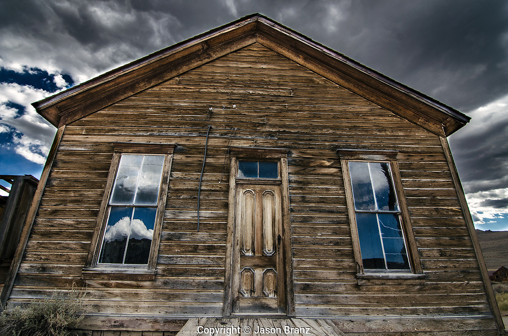 Rustic house at Bodie State Historic Park, California