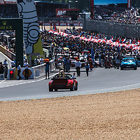 Porsche 911 Turbo 3,3 Cabrio (1989) carrying the Le Mans 24H trophy on 17/06/2017 at the 24H of Le Mans, 2017
