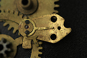 Closeup of the cogwheels and Clockwork mechanism