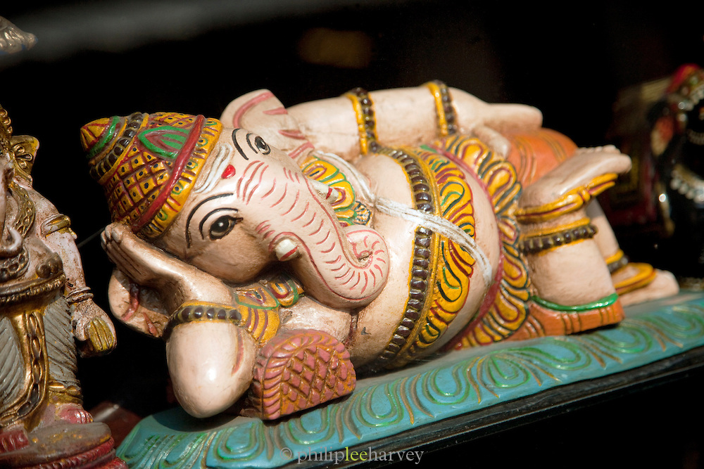A statue of the god Ganesha for sale in Cochin, Kerala, India