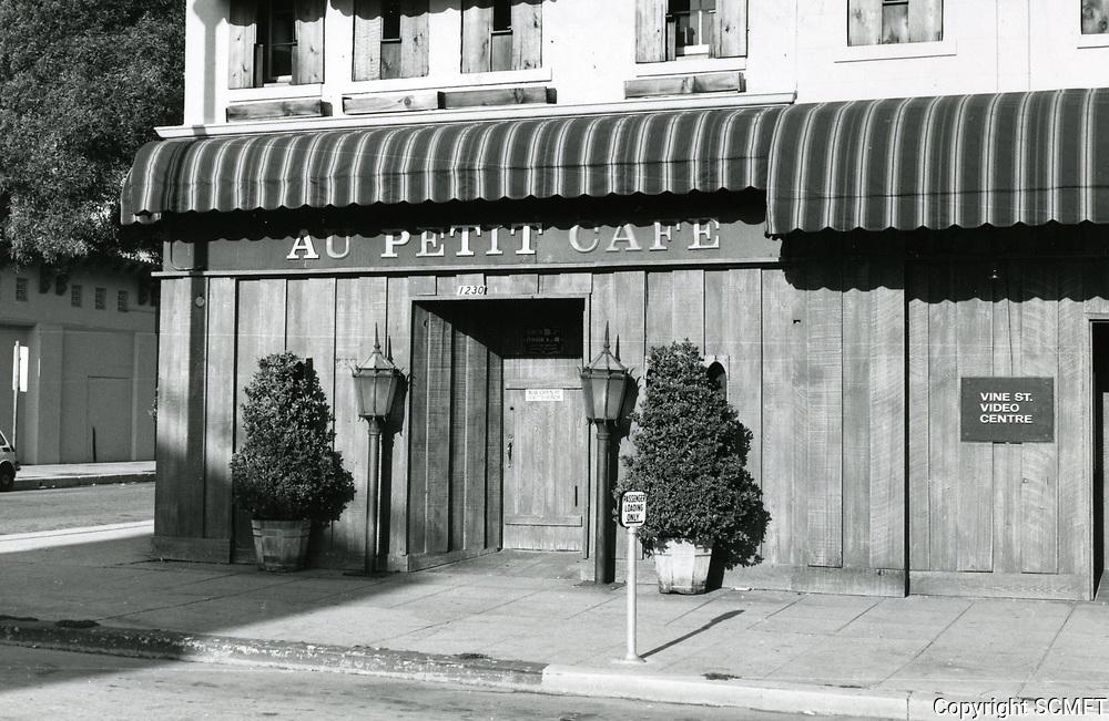 1979 Au Petit Cafe on Vine St.