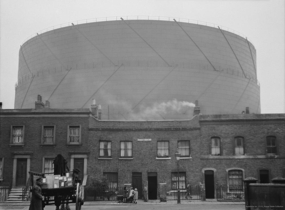 Gasometers, London, 1929