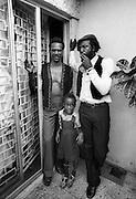 Jackie Edwards with Carl Bradshaw in Jamaica