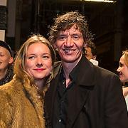 NLD/Amsterdam/20140307 - Boekenbal 2014, Peter Buwalda en partner