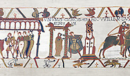 Bayeux Tapestry  Scene 15 - Duke Williams daughter is promised in marriage to Harold.