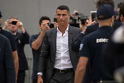 July 16, 2018 - Turin, Piedmont, Italy - Turin,Italy-July 16, 2018: Cristiano Ronaldo arrives for medical visits at J Medical (Credit Image: © Stefano Guidi via ZUMA Wire)