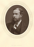 John Lubbock, first Baron Avebury (1834-1913) English banker, naturalist and archaeologist. Photograph published c.1880. Woodburytype