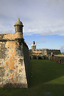 """Fort San Felipe del Morro --or El Castillo San Felipe del Morro in Spanish-- is a sixteenth-century citadel which lies on the northwestern-most point of the islet of San Juan, Puerto Rico. Named in honor of King Philip II of Spain, the fort, also referred to as """"El Morro"""" or """"promontory"""", was designed to guard the entrance to San Juan bay, and defend the city of San Juan from seaborne enemies..In 1983, the fort was declared a World Heritage Site by the United Nations and is part of San Juan National Historic Site. Over two million visitors a year explore the windswept ramparts and passageways making the fort one of Puerto Rico's main visitor attractions..."""