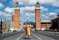 March 30, 2019 - Barcelona, BARCELONA, SPAIN - BARCELONA, CATALUÃ'A, SPAIN, 30 of March; Vox supporter in Barcelona before the meeting (Credit Image: © AFP7 via ZUMA Wire)