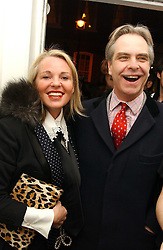 AMANDA ELIASCH and SEBASTIAN RILEY-SMITH at a private view of an exhibition of photographs by the late Robert Mapplethorpe curated by artist David Hockney at the Alison Jacques Gallery, 4 Clifford Street, London W1 on 13th January 2005.<br /><br />NON EXCLUSIVE - WORLD RIGHTS