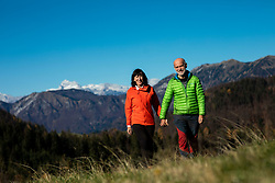 Portrait of Andrej and Marija Stremfelj, 30 years after they climbed the world's highest mountain Mount Everest together as the first married couple in the world, on November 11, 2020 in SRC Stozice, Ljubljana, Slovenia. Photo by Vid Ponikvar/Sportida