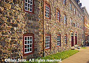 Historic Moravian College, stone structure, Bethlehem, Pennsylvania