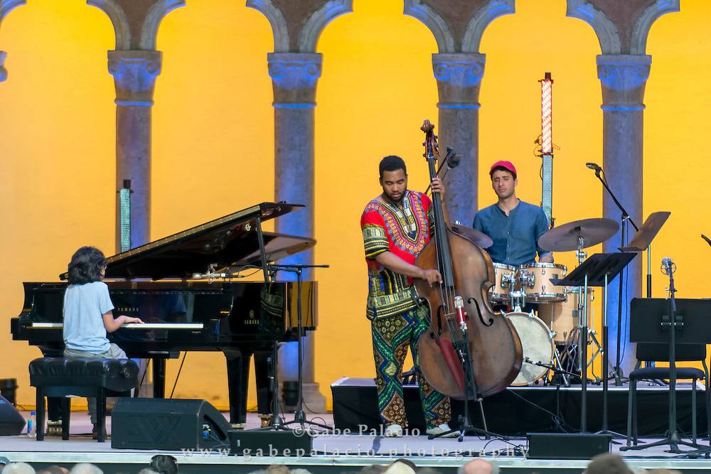 Joey Alexander Trio<br /> performs in the Venetian Theater at Caramoor in Katonah New York on July 18, 2015. <br /> (photo by Gabe Palacio)