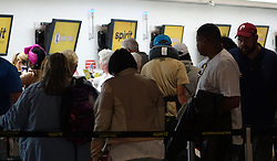 May 9, 2017 - Fort Lauderdale, FL, USA - Check in lines are seen at Spirit Airlines, Tuesday, May 9, 2017 at the Fort Lauderdale International Airport. Chaos broke out overnight as Spirit cancelled flights due to a labor dispute. (Credit Image: © Joe Cavaretta/TNS via ZUMA Wire)