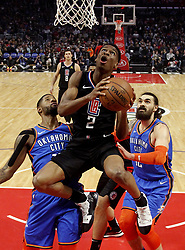 March 8, 2019 - Los Angeles, California, U.S - Los Angeles Clippers' Shai Gilgeous-Alexander (2) goes to basket during an NBA basketball game between Los Angeles Clippers and Oklahoma City Thunder Friday, March 8, 2019, in Los Angeles. (Credit Image: © Ringo Chiu/ZUMA Wire)