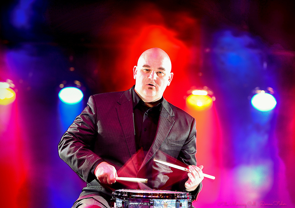 Jazz drummer and CEO of the Allentown JazzFest Bryan Tuk plays his snare drum at Symphony Hall in Allentown, Pa..<br /> - Photography by Donna Fisher<br /> - ©2020 - Donna Fisher Photography, LLC <br /> - donnafisherphoto.com