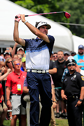 June 24, 2018 - Cromwell, CT, U.S. - CROMWELL, CT - JUNE 24: Bubba Watson of the United States drives from the 1st tee during the Final Round of the Travelers Championship on June 24, 2018 at TPC River Highlands in Cromwell, Connecticut. (Photo by Fred Kfoury III/Icon Sportswire) (Credit Image: © Fred Kfoury Iii/Icon SMI via ZUMA Press)