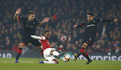 March 14, 2019 - London, England, United Kingdom - Alexandre Lacazette of Arsenal.during Europa League Round of 16 2nd Leg  between Arsenal and Rennes at Emirates stadium , London, England on 14 Mar 2019. (Credit Image: © Action Foto Sport/NurPhoto via ZUMA Press)
