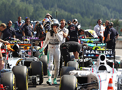 22.08.2015, Circuit de Spa, Francorchamps, BEL, FIA, Formel 1, Grand Prix von Belgien, Qualifying, im Bild Nico Rosberg (Mercedes AMG Petronas Formula One Team) // during the Qualifying of Belgian Formula One Grand Prix at the Circuit de Spa in Francorchamps, Belgium on 2015/08/22. EXPA Pictures © 2015, PhotoCredit: EXPA/ Eibner-Pressefoto/ Bermel<br /> <br /> *****ATTENTION - OUT of GER*****
