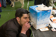 Moscow, Russia, 19/02/2006..Moscow regional dog exhibition organised by the Rosco Working Dogs Club.