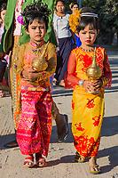 SAGAING, MYANMAR - NOVEMBER 27, 2016 :people gathering in tradional costtumes for a donation  festival in Sagaing  Myanmar (Burma)