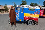 Man with his self styled rickshaw, Shrine of Khwaja Abd Allah, Herat, Afghanistan