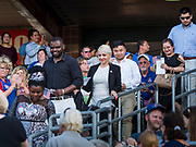 04 JULY 2019  - DES MOINES, IOWA: Thirty people became US citizens during a naturalization ceremony at the Iowa Cubs game in Des Moines. The naturalization ceremony is an Iowa Cubs 4th of July tradition. This is the 11th year they've held the ceremony.           PHOTO BY JACK KURTZ