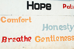 Dec. 04, 2012 - Slogans on public wall in Cochin, Kerala (Credit Image: © Image Source/ZUMAPRESS.com)