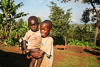 Brothers photographed in Sipi Falls, Uganda.