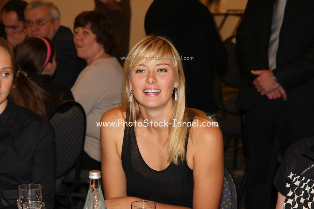 Maria Sharapova in Israel, January 30, 2008, the night before her match were Maria defeated Tzipi Obziler 6-0 6-4